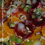 Insalata di arance, cipolla rossa e pinoli tostati