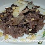 Risotto radicchio, funghi, noci e grana