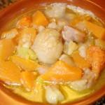 Una zuppa autunnale:  Castagne, Zucca e Porri