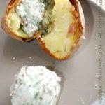 Patate al forno con crema di Burro Salato 1889 aromatizzato