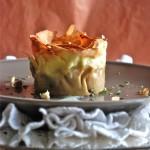 Menù di Natale Chic: Cestini di Lasagne con zucca, taleggio e funghi