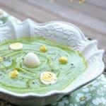 Crema di zucchine con uova di quaglia e…Buona Pasqua