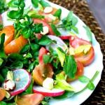 Voglia di Estate: Insalatina di crescione, pomodori pachino IGP e olio evo ai semi di coriandolo