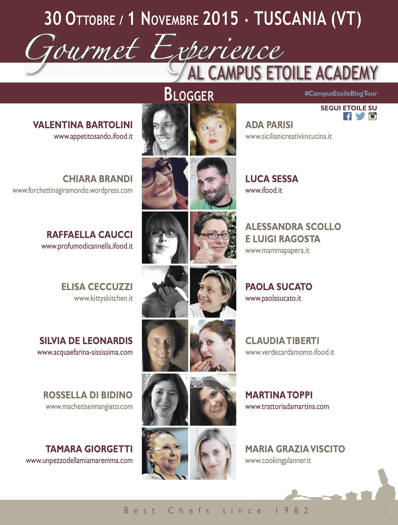 #campusetoileblogtour partecipanti