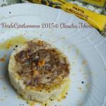 Risotto al burro salato e pasta di acciughe con scorza di arancia