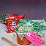 Pesto di peperoni, paprika, mandorle e rosmarino